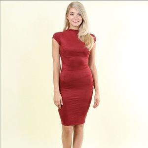 """Holly Holiday Suedette Dress"""